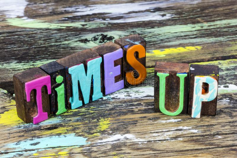 Time up stop change open speed deadline test take action. Phrase letterpress type wooden countdown design today.  Countdown limited pressure ability authority royalty free stock photo
