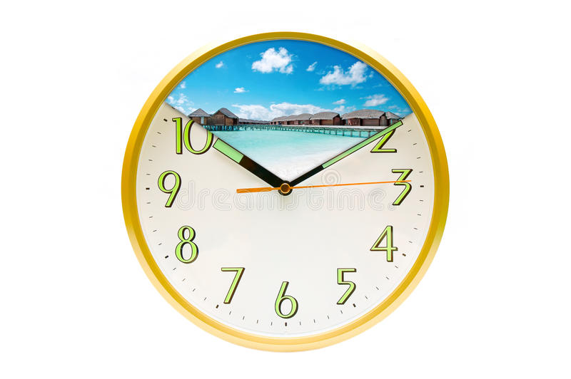 Time of vacation stock image