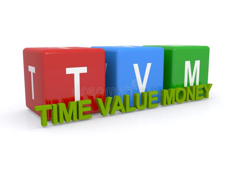Time value money. A concept illustration of time value and money royalty free stock photo