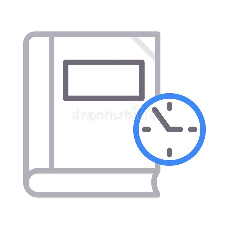 Time colour line vector icon. Time vector icon. Elements for mobile concept and web apps. Thin line icons for website design and development, app development vector illustration