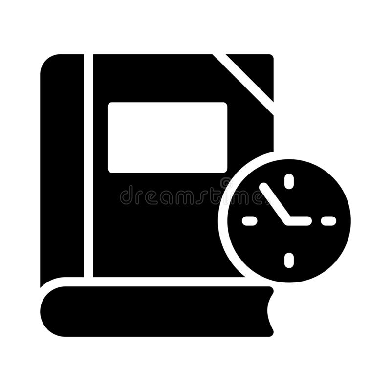 Time glyph flat vector icon. Time vector icon. Elements for mobile concept and web apps. Thin line icons for website design and development, app development royalty free illustration