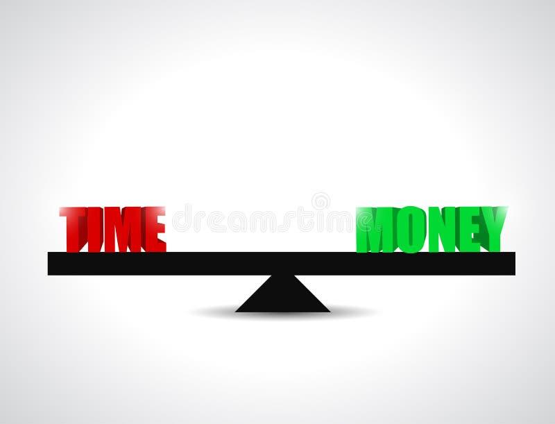 Time versus money balance illustration design. Over a white background vector illustration