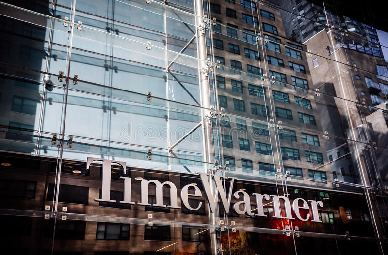 Time Warner Inc building stock image
