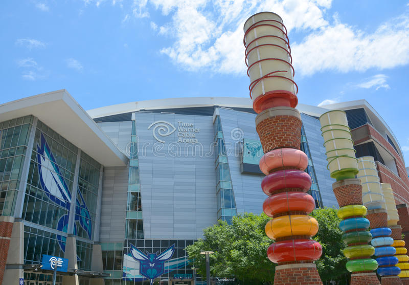 Time Warner kabla arena zdjęcia stock