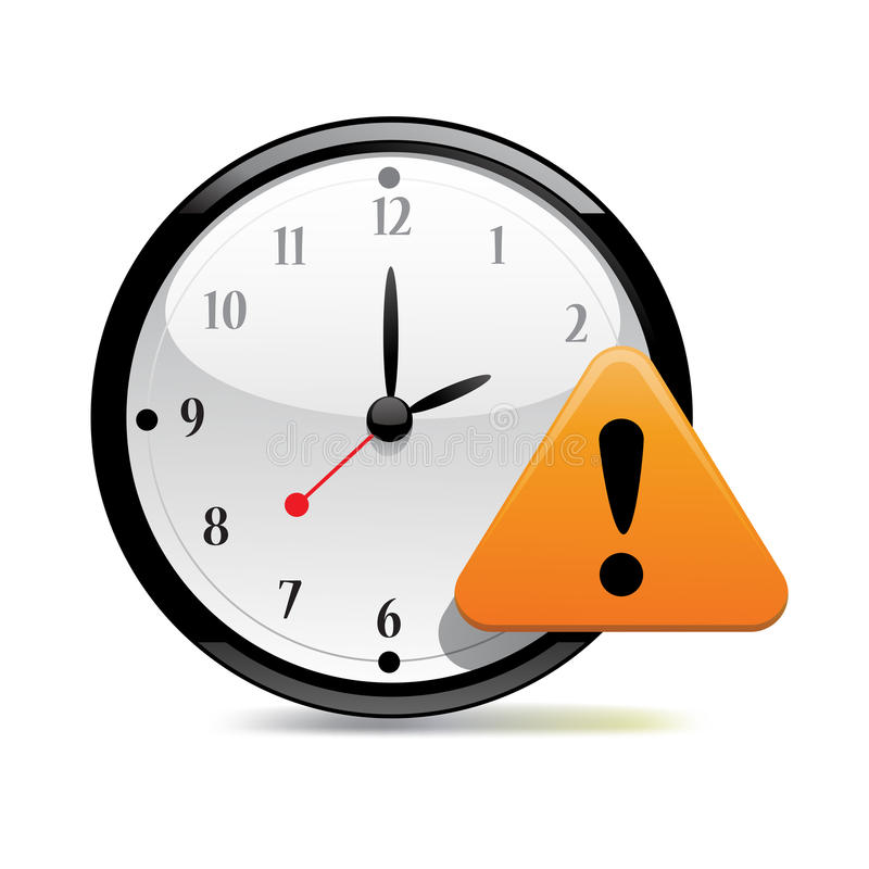 Download Time Warning stock illustration. Image of exclamation - 24483714