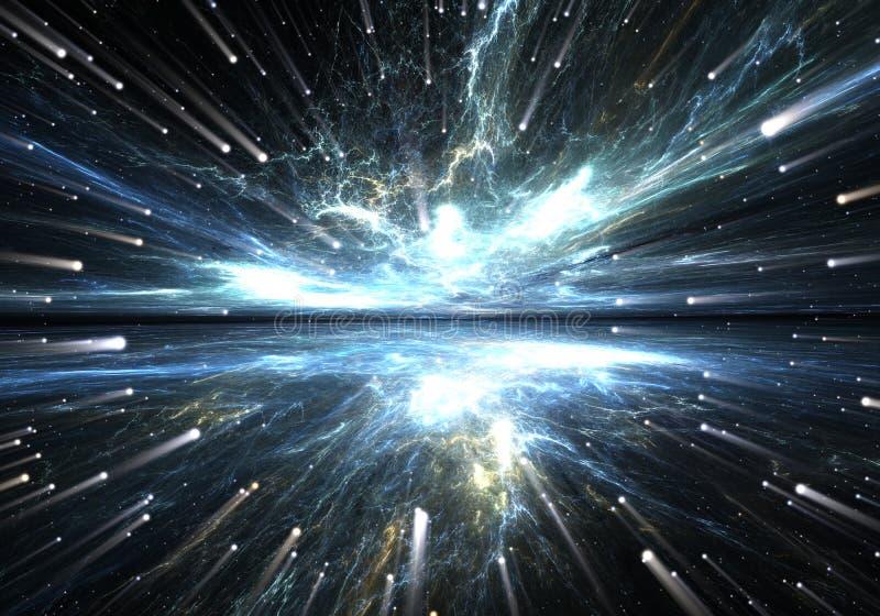 Time warp, traveling in space. Time warp, traveling in space, illustration vector illustration