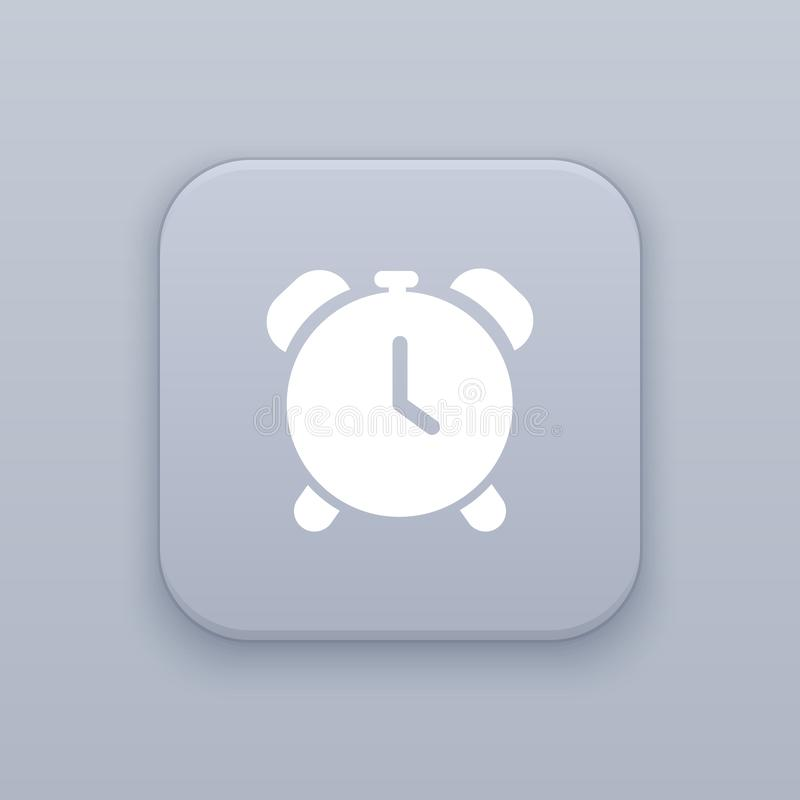 Time, watch button, best vector. On a gray background stock illustration