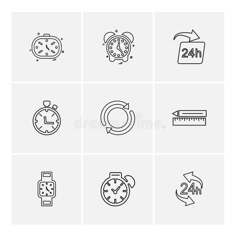 Time , watch , clock , alarm , times , timer , eps icons set vector. Time , watch , clock , alarm , times , timer , icon, vector, design, flat, collection, style royalty free illustration