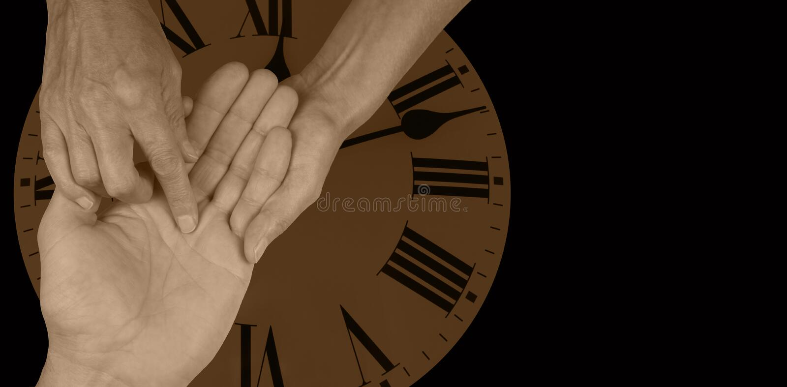 Time will tell - Palmistry website banner royalty free stock photos