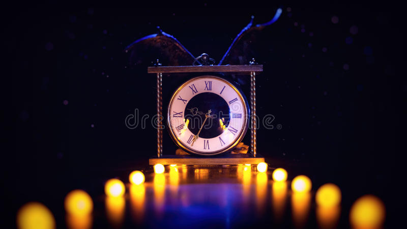 Time&Wings royalty free stock photos