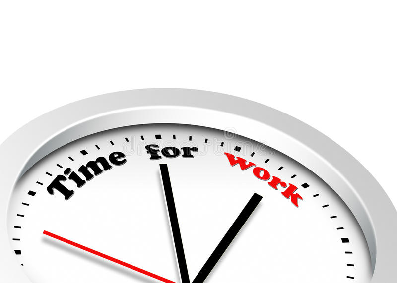 Download Time for work stock illustration. Image of punctuality - 24559786