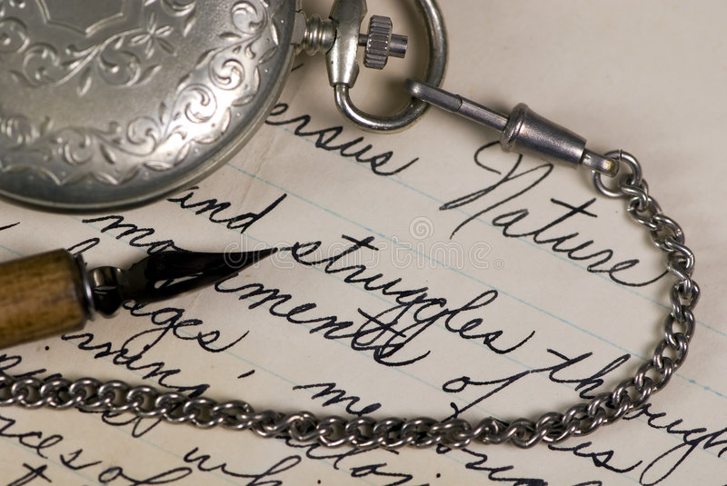 Download Time for writting stock image. Image of script, complete - 1434495