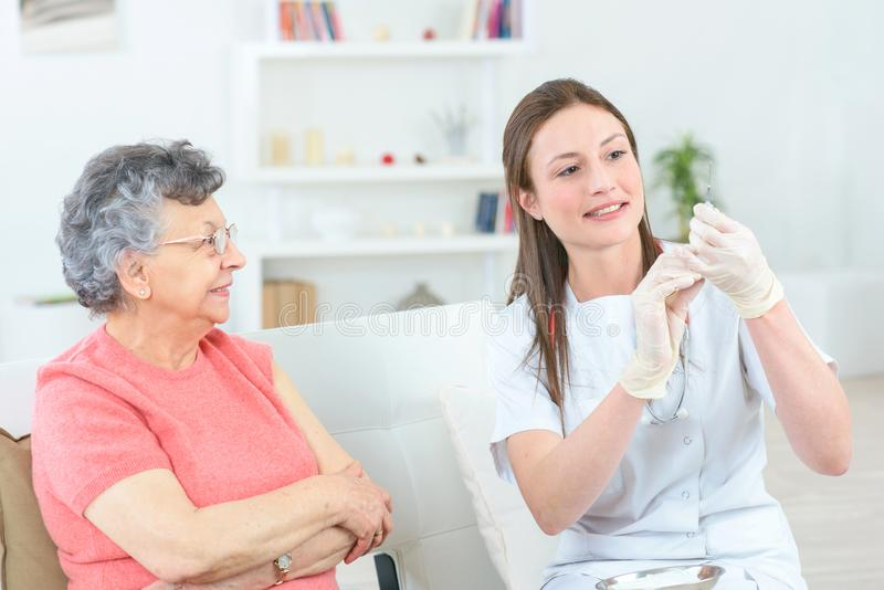 Time for your injection. Antibiotic stock photo