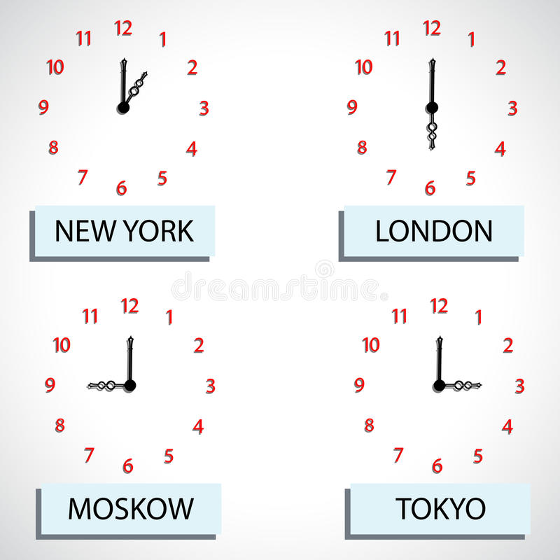 Time zone hours. Abstract vector art illustration stock illustration
