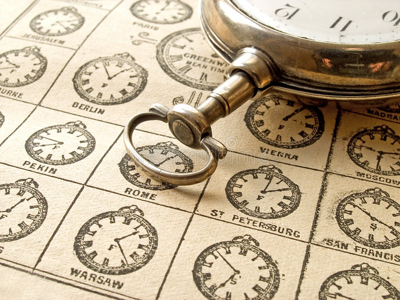 Time Zones stock image