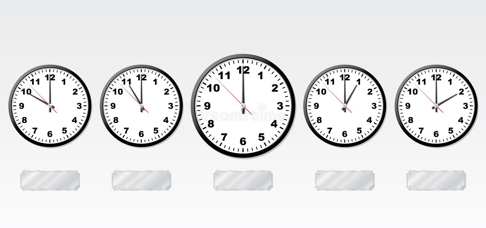 Time zones. royalty free illustration