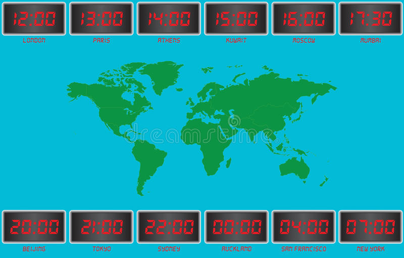 Time Zones Stock Vector Image Of Office Number Hour
