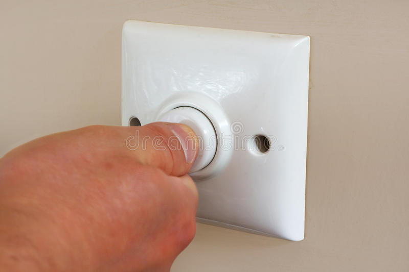 Timed light switch stock image