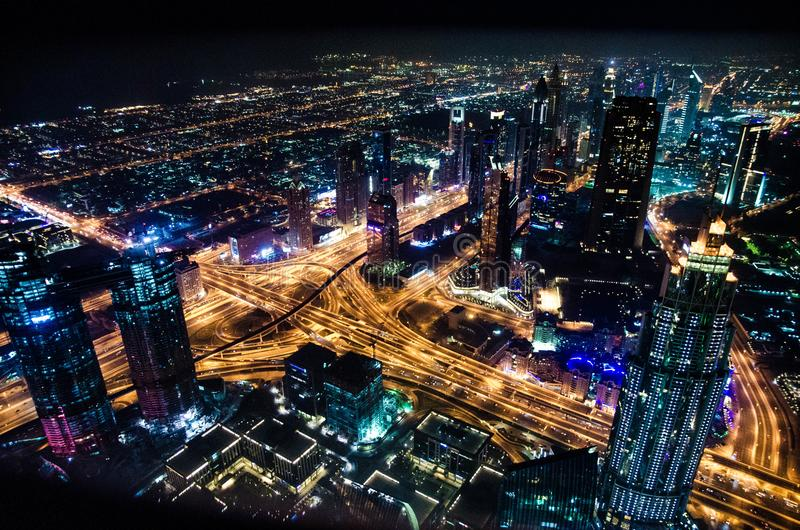 Timelapse Cityscape Photography during Night Time stock photo