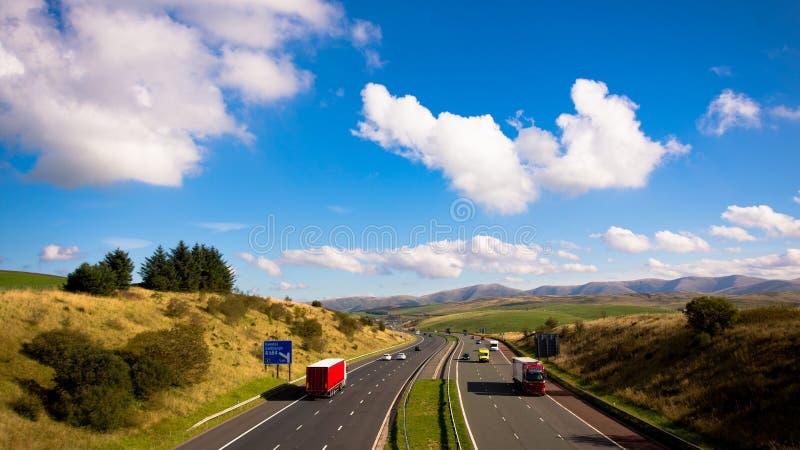 Timelapse d'autoroute M6 J37 images stock