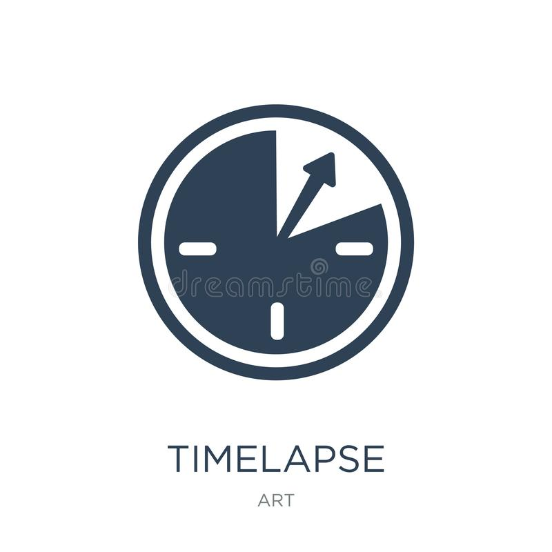 Timelapse icon in trendy design style. timelapse icon isolated on white background. timelapse vector icon simple and modern flat. Symbol for web site, mobile vector illustration