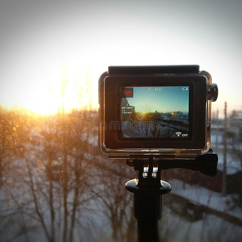 Timelapse mit GoPro lizenzfreie stockbilder