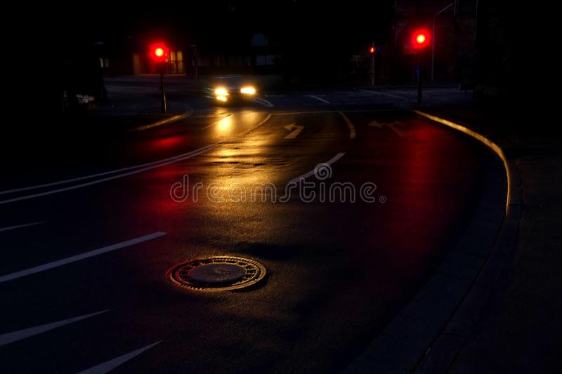 Timelapse Photo of Car Driving on Road stock photos