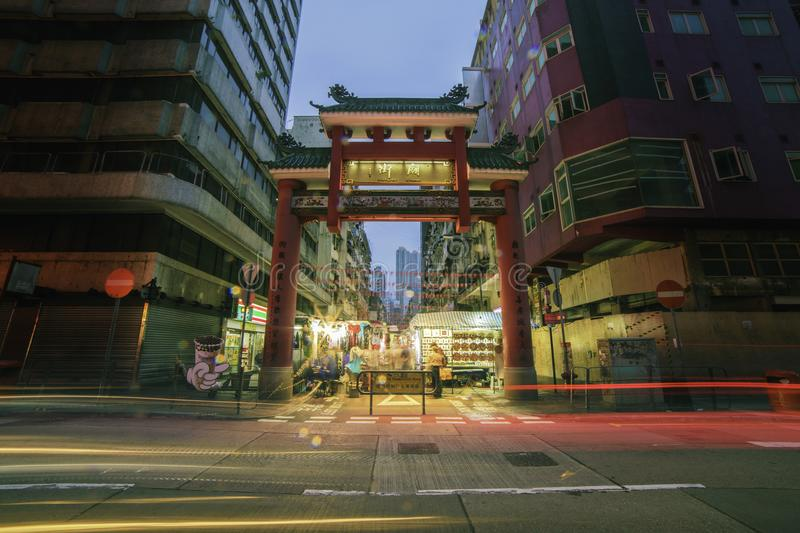 Timelapse Photo of China Town royalty free stock images