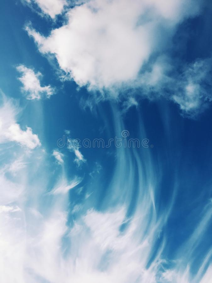 Timelapse Photo of Gray Clouds stock photography