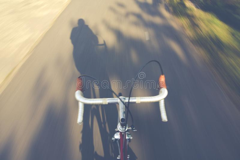 Timelapse Photography of a Person Riding a Road Bike royalty free stock photos