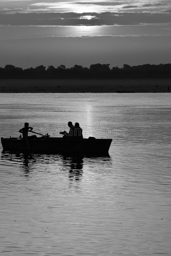 Free Timeless Boat Ride At Ganges River, India Royalty Free Stock Photo - 58523175