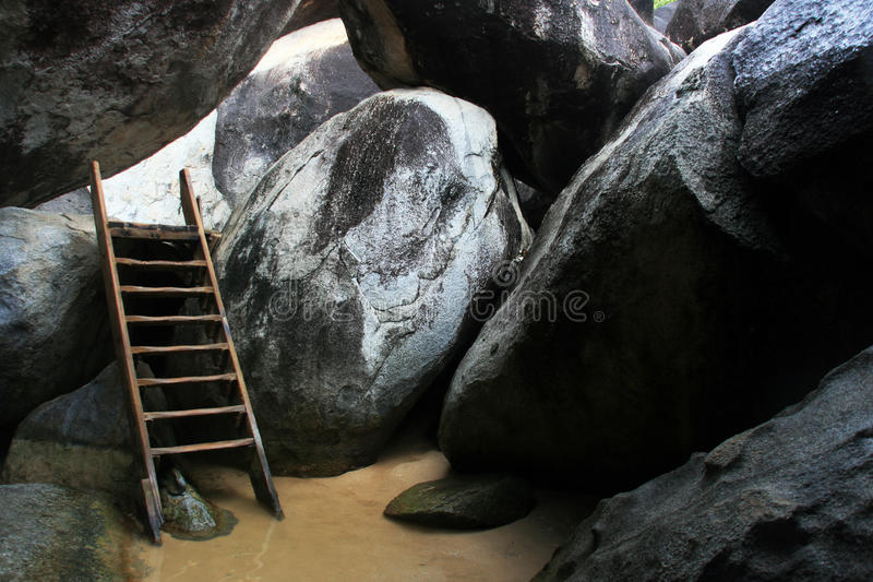 Timeless Ladder in Virgin Gorda stock image