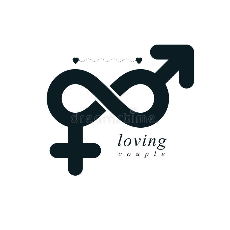 Timeless Loving Couple Concept Vector Symbol Created With Infin