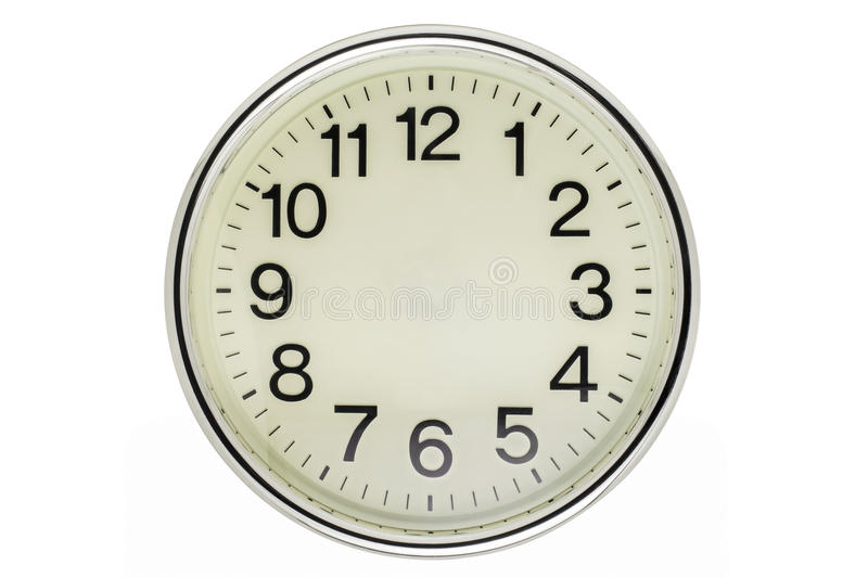 Timeless. Wall clock isolated on white background stock photo
