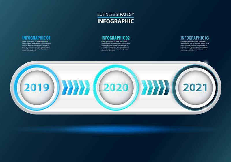 Timeline Business strategy infographic design template stock illustration