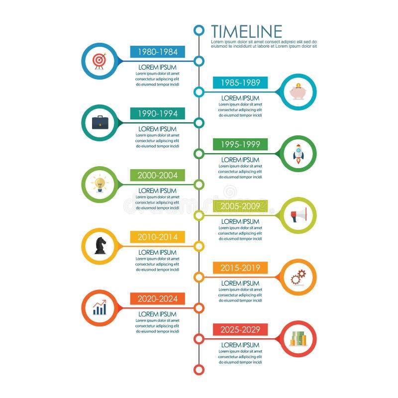 Timeline chart infographic. Vector illustration stock illustration