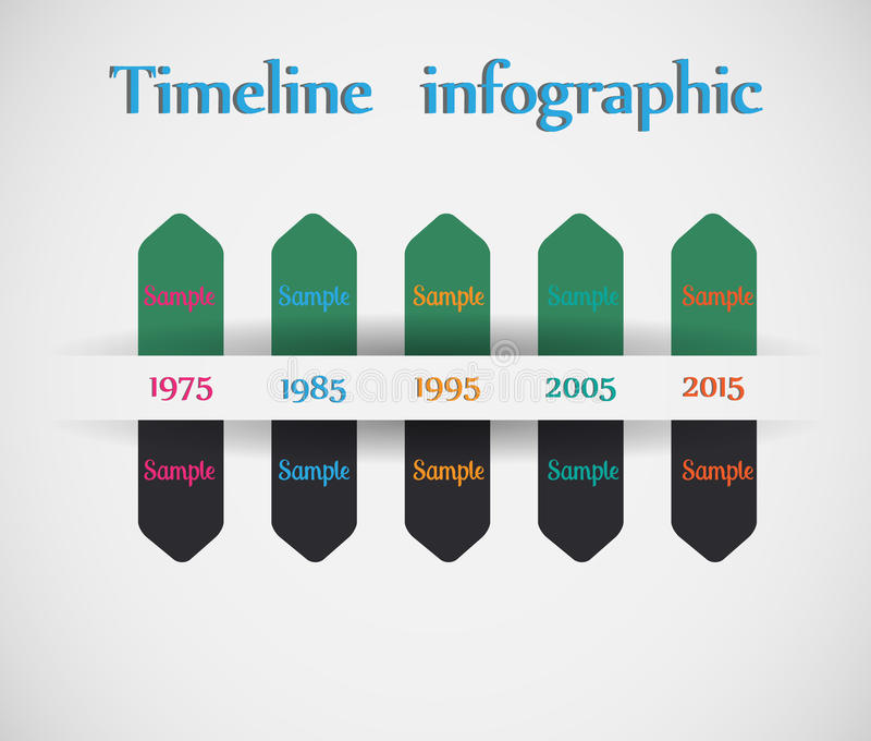 Timeline Pro - Different Tooltips Stock Vector