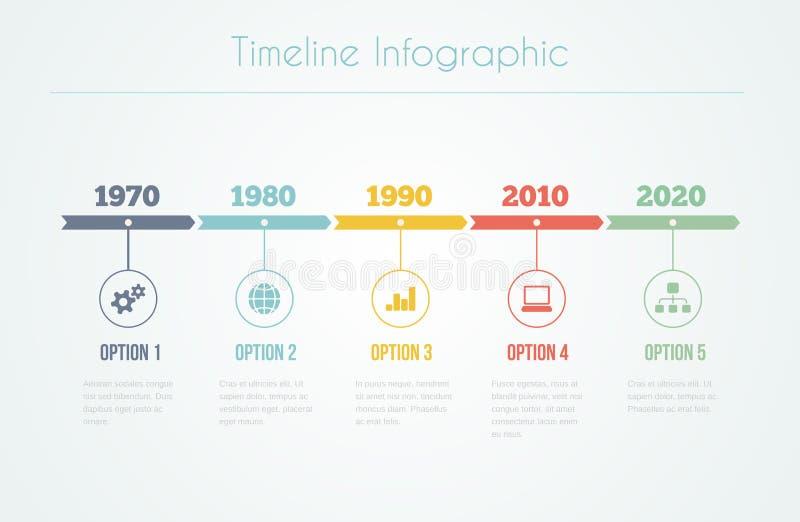 Timeline Infographic vektor illustrationer