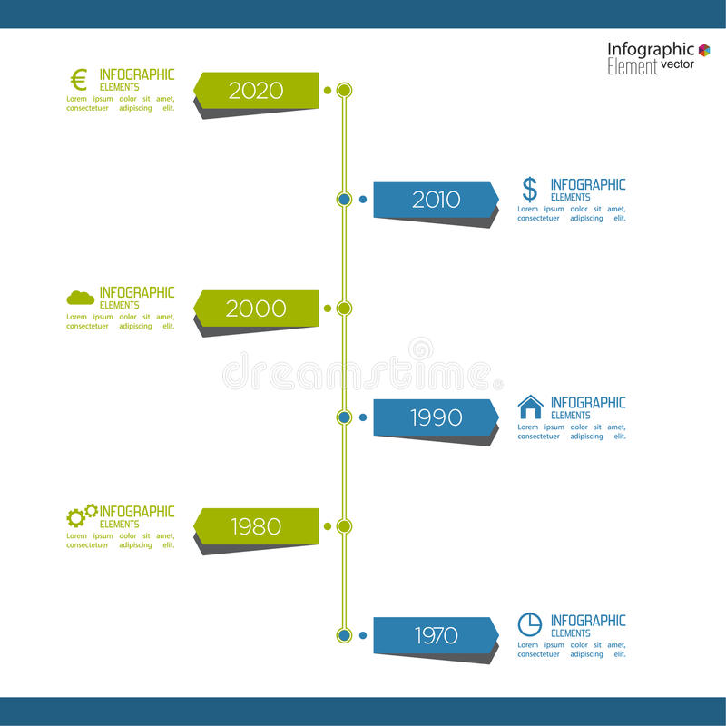 Timeline Infographic with arrows and pointers. Timeline Infographic on blurred background with arrows and pointers. for reports, statistics, earnings, excluding stock illustration