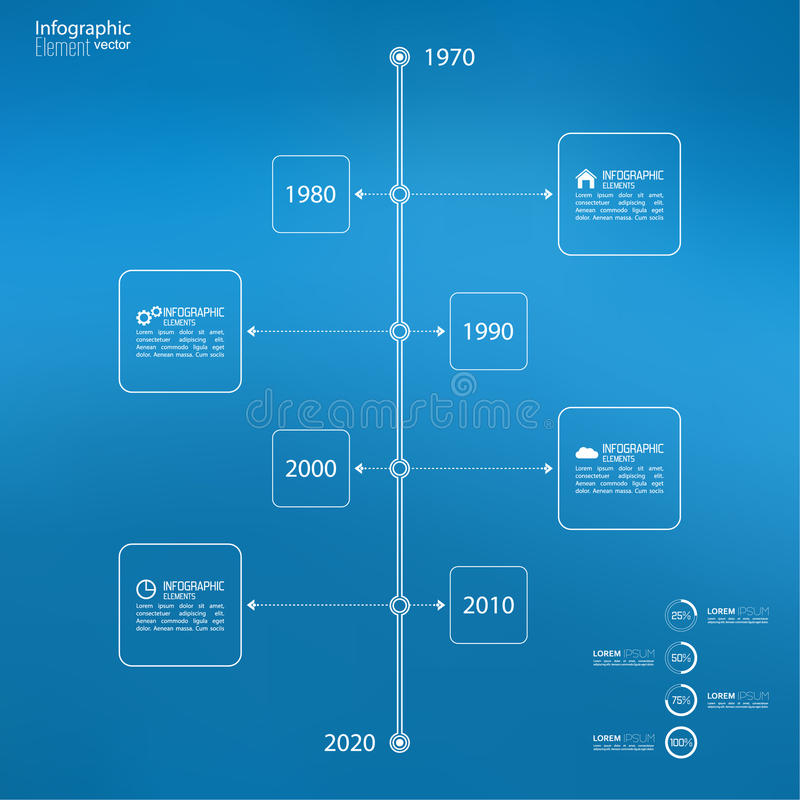 Timeline Infographic with arrows and pointers. Timeline Infographic on blurred background with arrows and pointers. for reports, statistics, earnings, excluding vector illustration