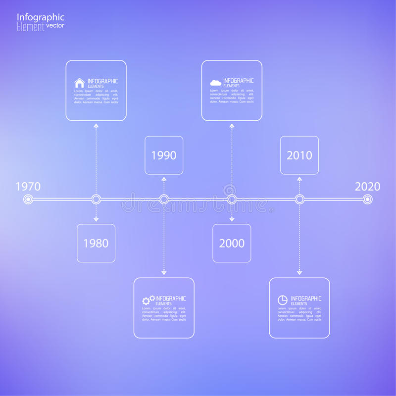 Timeline Infographic with arrows and pointers. Timeline Infographic on blurred background with arrows and pointers. for reports, statistics, earnings, excluding royalty free illustration