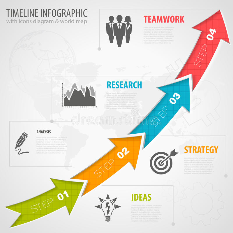 Timeline Infographic royalty free illustration