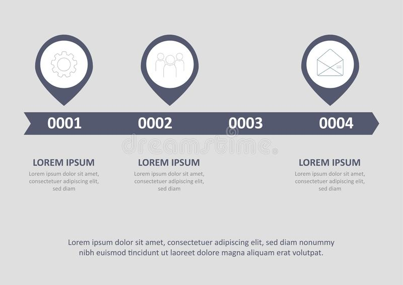 Timeline infographic design vector and marketing icons can be used for workflow layout, diagram, annual report. Vector vector illustration