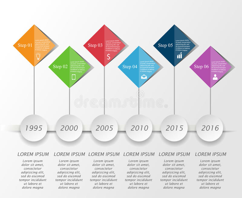 Timeline infographic template stock illustration