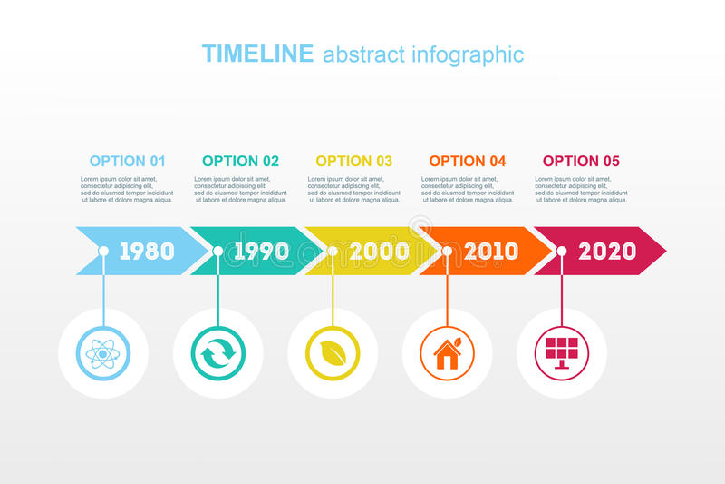 Timeline Infographic. Vector design template. royalty free illustration