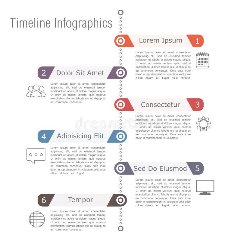 Timeline Infographics vektor illustrationer