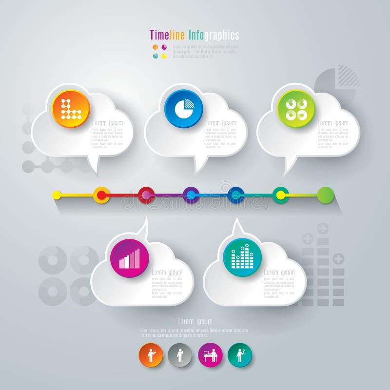 Timeline infographics design template. vector illustration
