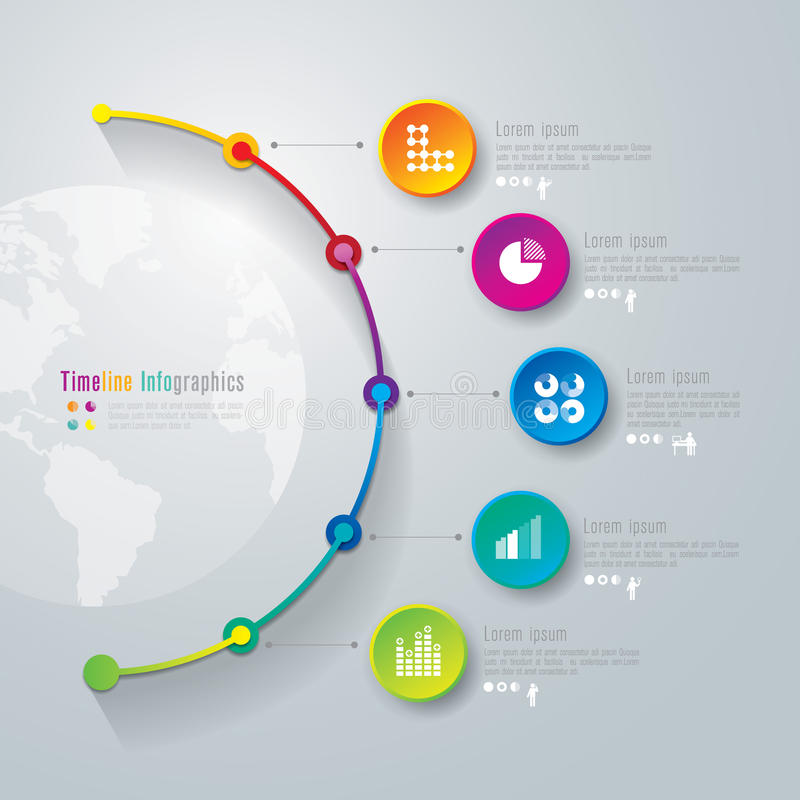 Timeline infographics design template. vector illustration