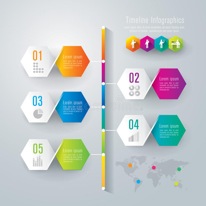 Timeline Infographics Design Template Stock Vector Illustration - Timeline design template