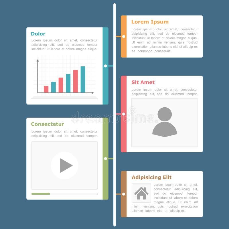 Timeline Infographics. Design template, flat design royalty free illustration